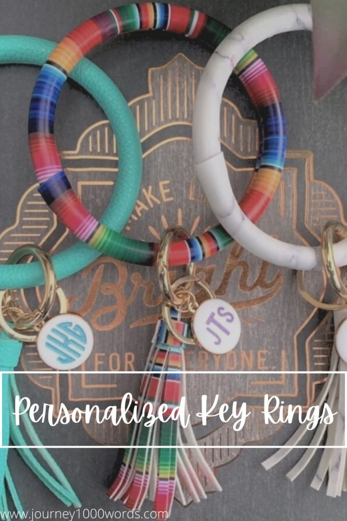 Personalized Large Keychain Ring